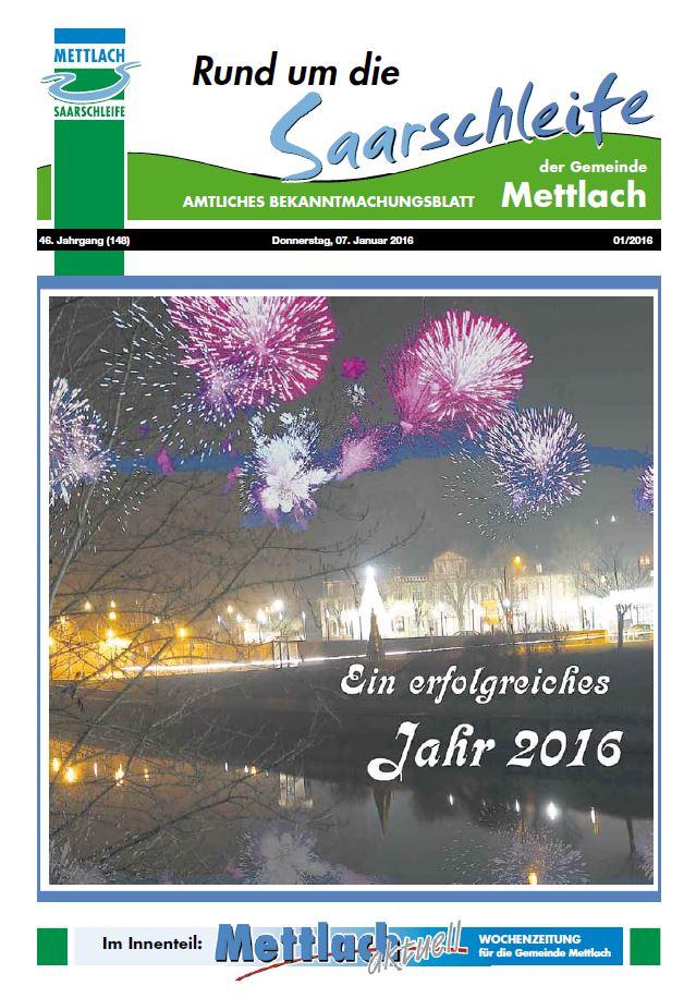 Bekanntmachungsblatt 2016