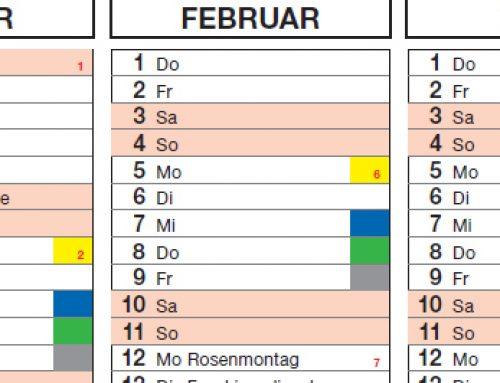 Abfallkalender für 2018