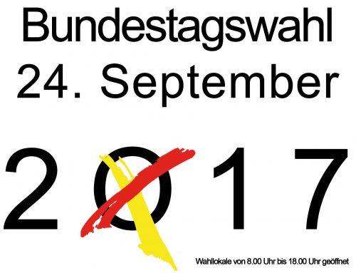 Wahlaufruf – am 24. September ist Bundestagswahl