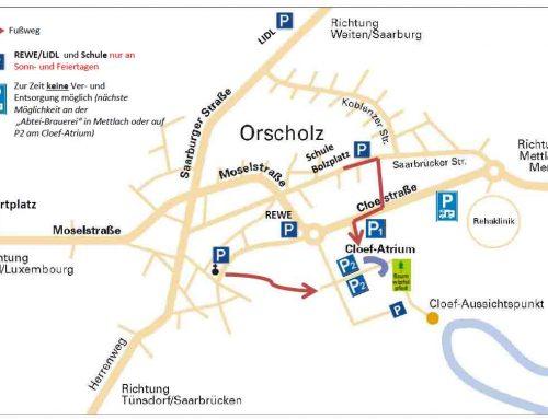 Aktualisierte Parkplatzsituation in Orscholz