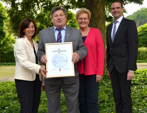 Reinhold Behr aus Nohn mit Freiherr-vom-Stein-Medaille ausgezeichnet