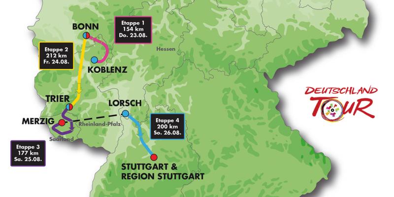 Vier Etappen durch fünf Bundesländer, Bild: Gesellschaft zur Förderung des Radsports mbH